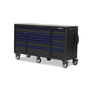 Montezuma Tool Cabinet for Garage - 16-Drawer - 4 Power and 2 USB outlets - 72-in x 24-in