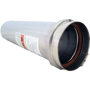 Z-Vent 3-in Diameter Single Wall Pipe - Metallic Gas Vent - 5-ft