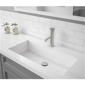 Ancona Nova Series Single Lever Bathroom Faucet in Brushed Nickel finish