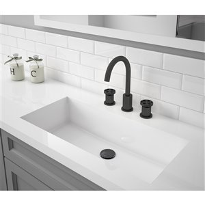 Ancona Nova Series Widespread Bathroom Faucet in Matt Black finish