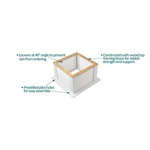 Good Directions Manchester Vinyl Cupola with Copper Roof - 26-in x 32-in - White