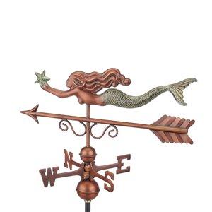 Good Directions Little Mermaid Weathervane with Roof Mount - 28-in - Verdigris