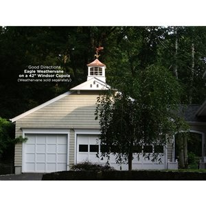 Good Directions Windsor Vinyl Cupola with Copper Roof - 26-in x 38-in - White