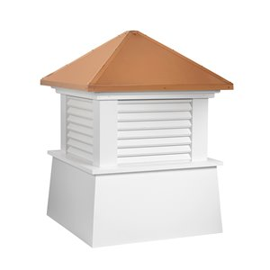 Good Directions Manchester Vinyl Cupola with Copper Roof - 18-in x 22-in - White