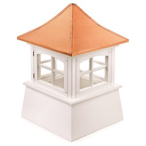 Good Directions Windsor Vinyl Cupola with Copper Roof - 18-in x 27-in - White