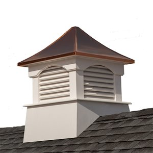 Good Directions Coventry Vinyl Cupola with Copper Roof - 22-in x 29-in - White