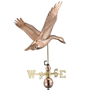Good Directions Goose Weathervane with Roof Mount - 41-in - Copper