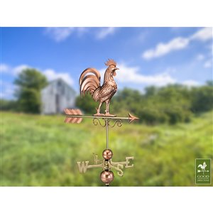 Good Directions Rooster Weathervane - 36-in - Copper