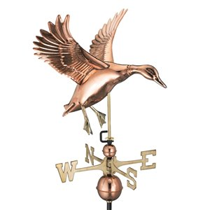 Good Directions Landing Duck Weathervane - 35-in - Copper