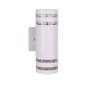 Beldi Andalo Collection 2-Light Outdoor Wall Light - White - 2.36-in x 4.6-in x 1.67-in