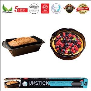Daughkun UNSTICK Non-Stick Cake & Loaf Liners - 2 pcs