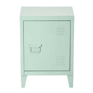 FurnitureR Metal Cabinet  As Side Table Or Nightstand Graves Green - 16-in x 12-in x 23-in