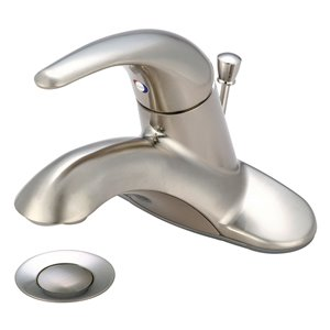 Pioneer Industries Legacy Collection Single-Handle Bathroom Faucet - Brushed Nickel
