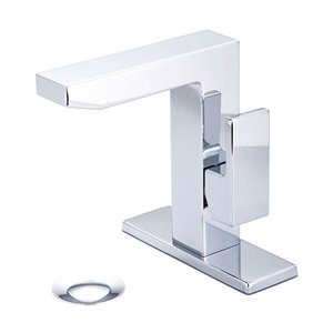 Pioneer Industries MOD Rectangular Single-Handle Bathroom Faucet - Polished Chrome