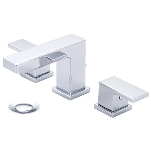 Pioneer Industries MOD Rectangular Two-Handle Bathroom Faucet - Polished Chrome