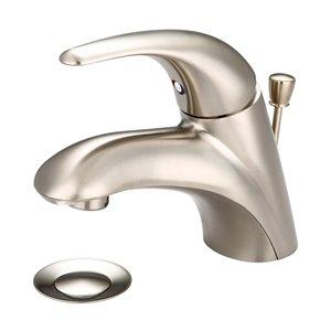 Pioneer Industries Legacy Lever Handle Curved Bathroom Faucet - Brushed Nickel
