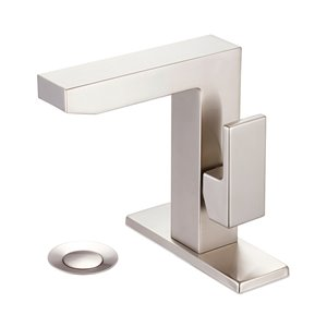 Pioneer Industries MOD Rectangular Single-Handle Bathroom Faucet - Brushed Nickel