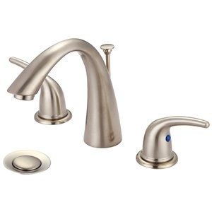 Olympia Faucet Accent 2-Handle  Widespread Lavatory Faucet - Brushed Nickel