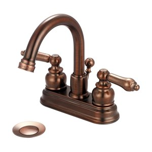 Pioneer Industries Brentwood Two-Handle Bathroom Faucet with Gooseneck Spout - Oil Rubbed Bronze