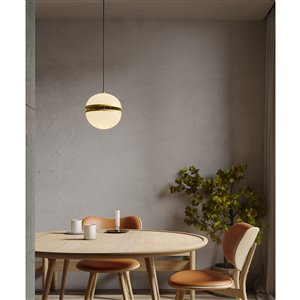 Gild Design House Thea Pendant Light - White and Gold - 10-in x 12-in x 60-in
