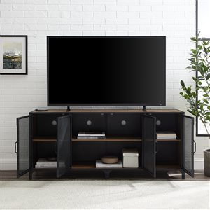 Walker Edison Industrial TV Cabinet - 60-in x 26-in - Rustic Oak