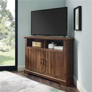 Walker Edison Country Corner TV Stand - 44-in x 32-in - Dark Walnut