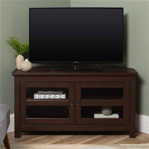 Walker Edison Country Corner TV Stand - 44-in x 23-in - Espresso