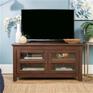 Walker Edison Country TV Cabinet - 44-in x 23-in - Brown
