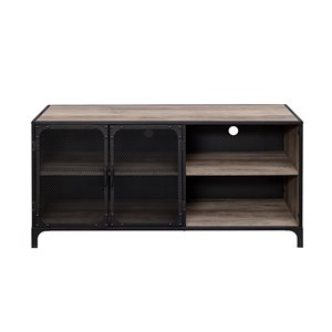 Walker Edison Industrial TV Cabinet - 52-in x 25-in - Grey
