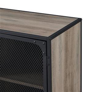Walker Edison Industrial TV Cabinet - 60-in x 26-in - Grey