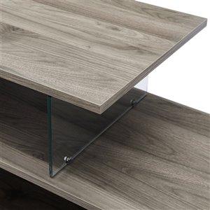 Walker Edison Rustic TV Cabinet - 60-in x 26-in - Slate Grey