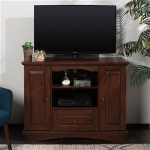 Walker Edison Casual TV Cabinet - 42-in x 32-in - Brown