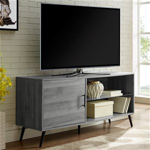 Walker Edison Mid-Century TV Cabinet - 52-in x 24-in - Slate Grey