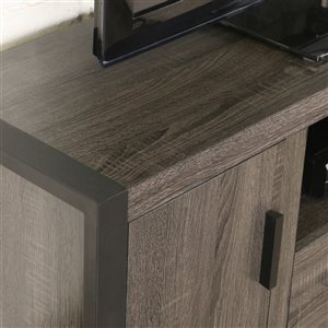 Walker Edison Industrial TV Cabinet with Storage - 60-in x 22-in - Charcoal