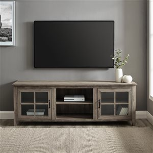 Walker Edison Farmhouse TV Cabinet with 2 Doors - 70-in - Grey