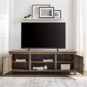 Walker Edison Farmhouse TV Cabinet - 70-in x 24-in - Grey