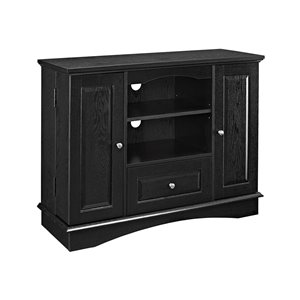 Walker Edison Casual TV Cabinet - 42-in x 32-in - Black