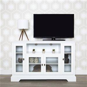 Walker Edison Modern TV Cabinet - 52-in x 33-in - White