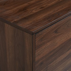 Walker Edison Mid-Century TV Cabinet - 70-in x 24-in - Dark Walnut