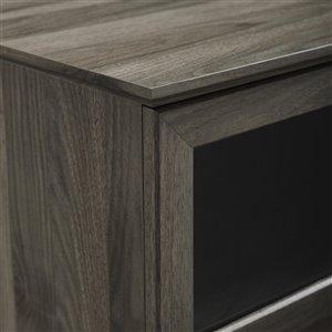 Walker Edison Country TV Cabinet - 58-in x 25-in - Slate Grey