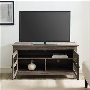 Walker Edison Country TV Cabinet - 44-in x 23-in - Grey