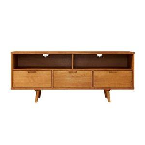 Walker Edison Mid-Century TV Cabinet - 58-in x 24-in - Caramel