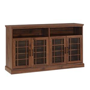 Walker Edison Casual TV Cabinet - 58-in x 33-in - Dark Walnut
