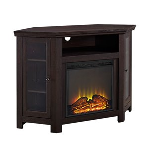 Walker Edison Casual Fireplace TV Stand - 48-in x 32-in - Espresso