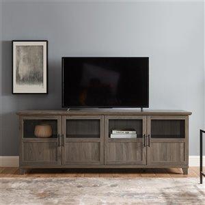 Walker Edison Modern TV Cabinet - 70-in x 25-in - Slate Grey