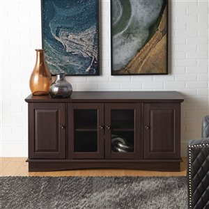 Walker Edison Casual TV Cabinet - 52-in x 24-in - Espresso