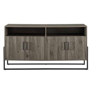 Walker Edison Farmhouse TV Cabinet - 58-in x 31-in - Slate Grey