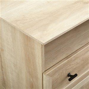 Walker Edison Casual Nightstand - 2 Drawers - 26-in x 25.25-in - White Oak