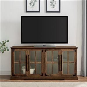 Walker Edison Industrial TV Cabinet - 58-in x 28-in - Reclaimed Barnwood