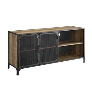 Walker Edison Industrial TV Cabinet - 52-in x 25-in - Reclaimed Barnwood